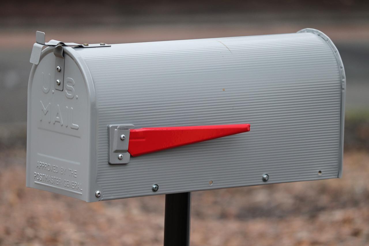 postbox, mailbox, metal